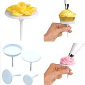 ACE 4PCS New Sugar-craft Cupcake Cake Stand Icing Cream Flower Decorating Nail Set Tool