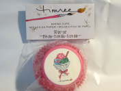 Timree Baking Cups - 50 per pkg - Red w/ Pink Polka Dots