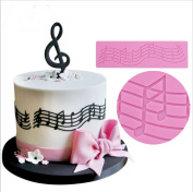 SHINA Chocolate cake mould fondant moulds music lace cake decoration mould