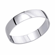 14K White Gold Wedding Band 4mm Domed Classy Plain Ring -Size