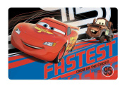"""Disney Pixar """"Cars"""" Kids Meal Time Plastic Placemat! Featuring Lightning McQueen & Mater! Makes Clean Up A Breeze!"""