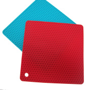Bestwoohome Silicone Pot Holders Trivets Hot Mat/Pad,Set of 2