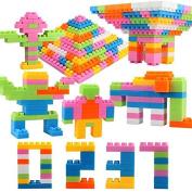 Plastic Children Kid Puzzle Building Blocks Bricks Educational Toy Gift