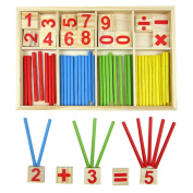 Kids Children Wooden Numbers Mathematics Early Learning Counting Educational Toy