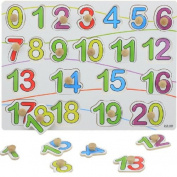 Knob Wooden Number Figure Cognitive Puzzle Kids Educational Developmental Digital Grasp Jigsaw Toy
