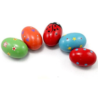Baby Colourful Wooden Sand Egg Percussion Instrument Music Toy