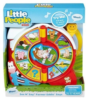 Classic Farmer See N and Say Preschool Toddler Animal Learning Toy