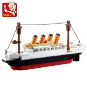 Sluban Building Blocks Titanic ShipBoat 3D Model Educational Gift Toys for Children 194PCS