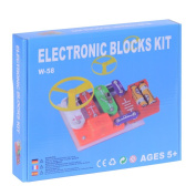 Mtele W-58 Snap to Build Circuits Electronic Block Educational Toy Set