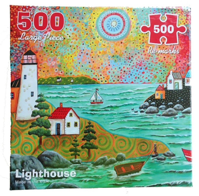 Re-marks Lighthouse 500 Large Piece Puzzle