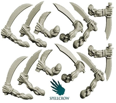28mm conversion bits Freebooters Orcs Hands with Sabres