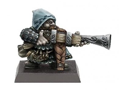 28mm Miniatures: Gnome with Big Gun