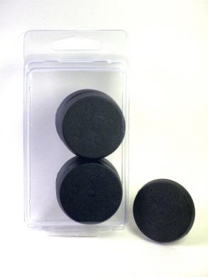 Value Pack of 10 - 40MM Round Black Monster Terminator Large Infantry Miniature Model Bases for TableTop or Miniature WarGames