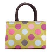 ZXKE Polka Dot Women Handbags Portable Picnic Bags Lunch Bag Tote
