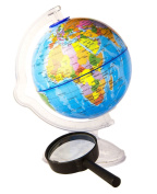 Kids Globe - Globe for Kids, World Globe for Kids, 2 in 1 Globe Earth and Magnifying Glass For Free