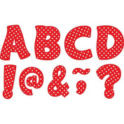 Teacher Created Resources Red Polka Dots Funtastic Font 7.6cm Magnetic Letters