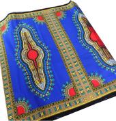 RaanPahMuang Africa Dashiki Colour Cotton Fabric for 1 Childrens Shirt Design, Navy