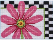 Pink Daisy & Cheques - Needlepoint Kit
