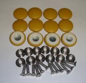 Set Of 12 Dura Snap Upholstery Buttons #36 Mustard Yellow Vinyl