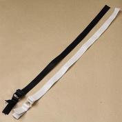 5pairs Black White Adjustable Spaghetti Ribbon Bra Straps 34cm Length Sewing Accessories WB38