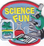 """""""SCIENCE FUN"""" - IRON ON PATCH APPLIQUE-School, Learning, Chemistry, Scientist"""