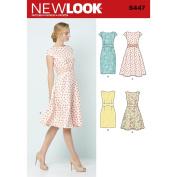 NEW LOOK Patterns Misses' Dresses A (8-10-12-14-16-18-20) 6447