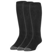 Galiva Men's Cotton ExtraSoft Over the Calf Cushion Socks - 3 Pairs Medium Black