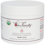 Organic Vaginal Health Moisturiser & Personal Lubricant By BeeFriendly, USDA Certified, Vulva Cream For Dryness, Itching, Irritation, Redness & Chafing Of Vagina Due To Menopause and Thinning 60ml