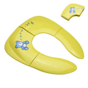 Bestgoo Folding Potty Seat - Kids Toilet Training Seat for Boys or Girls - Secure Non-Slip Surface - Regular for Home or Travel Use