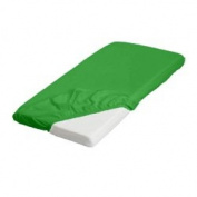 BabyDoll Bedding Bassinet Mattress & Sheet Combo, 43cm L x 80cm W, Green