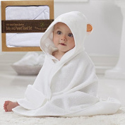 Organic Hypoallergenic Bamboo Hooded Towel & 2 Washcloth Set for Baby Toddler & Parents, Cashmere Soft, 4X-More Absorbent, Super Large, Thick & Nicely Packaged