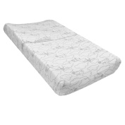 Just Born Retro Ride Transportation Changing Pad Cover, White/Grey