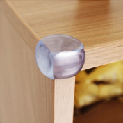 Baby Mate 8 PCS Ball Shape Clear Furniture Corner Protectors with Matt Finish - Child Proof Corner Safety Bumpers - Baby Proofing Corner Guards - Safety Table Corner Cover - Desk Corner Cushion 11476