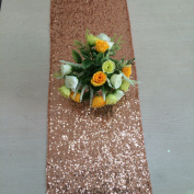 ShinyBeauty 14inx72in Rose Gold sequin table runner On Sale