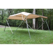 New Beige/tan Pontoon / Deck Boat Vortex 4 Bow Bimini Top 3.7m Long, 2.4m Wide, 140cm High, Complete Kit, Frame, Canopy, and Hardware. 1 TO 4 BUSINESS DAY DELIVERY)