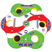 WOW World of Watersports, 13-2050, Tube A Rama, 6 Person Floating Island 3m Diameter, Cooler and Cup Holders