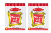 Melissa & Doug Sketch Pad (23cm x 30cm ) - 50 Sheets, 2-Pack