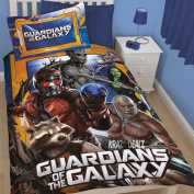 Official Licenced Marvel Guardians Of The Galaxy Mifits Reversible Duvet / Quilt Cover Set Single.