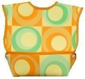 Dex Baby Dura Bib Crum Catcher - Geo Bib, Green & Orange by DexBaby