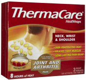 Thermacare Neck, Shoulder & Wrist Heatwraps, 8 Hour-3Ct