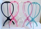 5Pcs Durable Stable Folding Wig Stand Cap Holder Stand Collapsible Wig Hat Cap Stand Holder