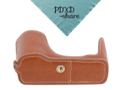 PDXD-share PU-Leather Camera Bottom Cover Half Camera Case for Canon Powershot G1X Camera