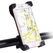 Awnic Bike Mount Phone Holder for Bicycle Handlebar Ultra Stable 4 Enclosed Corners Non-Slip Silicone Universal for 8.9cm - 17cm iPhone Android Smartphone and GPS, etc.