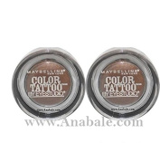 Maybelline Colour Tattoo Eyeshadow Limited Edition - Rich Mahogany,Pack of 2 by Maybelline