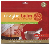 Dragon Balm Herbal Heat Patches - Value parcel of 15 (5 packs of 3 patches each). Ancient Chinese herbal remedy. Each patch 12cm x 18cm. Quick and easy application. Simply Stick to your skin