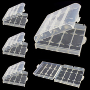 Battery Case AA AAA Safe Storage Hard Plastic Pack of 5