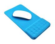 Massage Wrist Mouse Pad Breathable, Blue