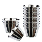 Happy Friends - Pudding Moulds - Stainless Steel - Set of 12 - Ø 8 cm