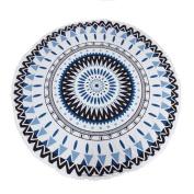 Culater® Round Hippie Tapestry Beach Throw Roundie Mandala Towel Yoga Mat Bohemian Featur