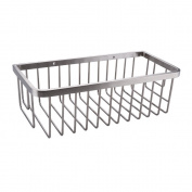 Konhard CS004 Solid Stainless Steel Bathroom Shower Caddy Wall Mount, Brushed Steel